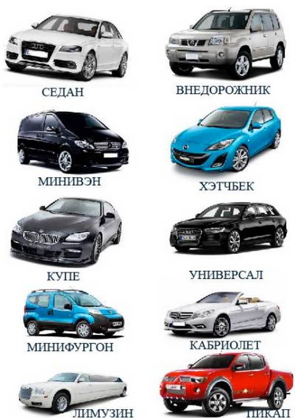 Судебная типы кузова легковых автомобилей про