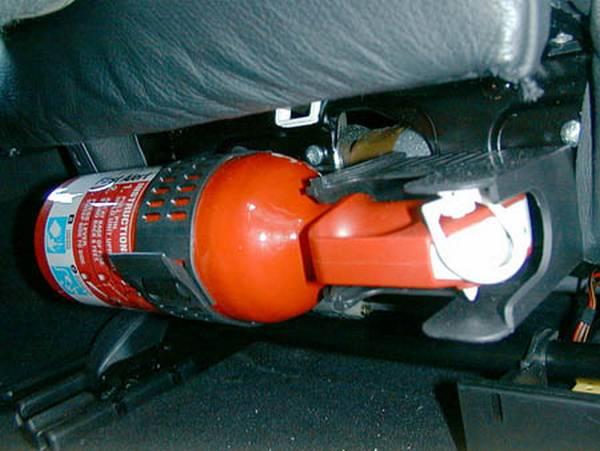 Какой нужен огнетушитель для легкового автомобиля вот